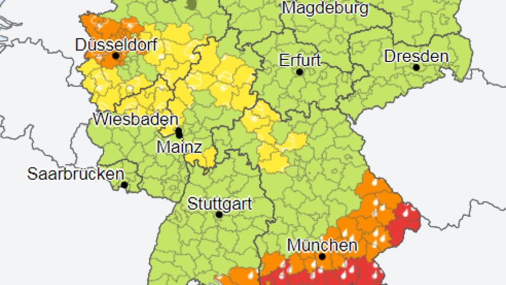 تحذير من أمطار غزيرة و عواصف في هذه المناطق, عرب ألمانيا
