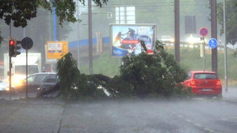عاصفة شمال ألمانيا تودي بحياة شخص وتعطل حركة القطارات