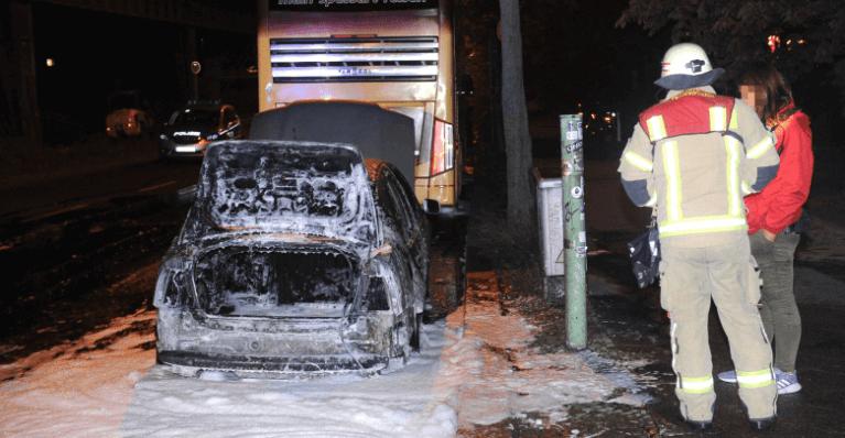 إضرام النار في سيارة أمام السفارة التركية في برلين