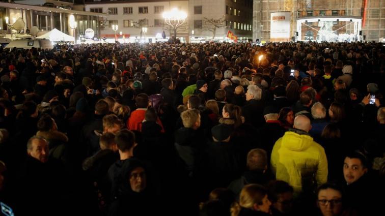 احتجاجات بالآلاف في مدينة ألمانية