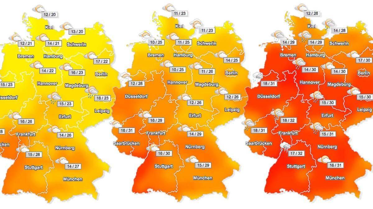 أحوال الطقس اليوم في ألمانيا