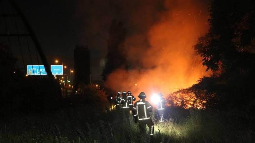 اندلاع حريق على اوتستراد في مدينة ألمانية