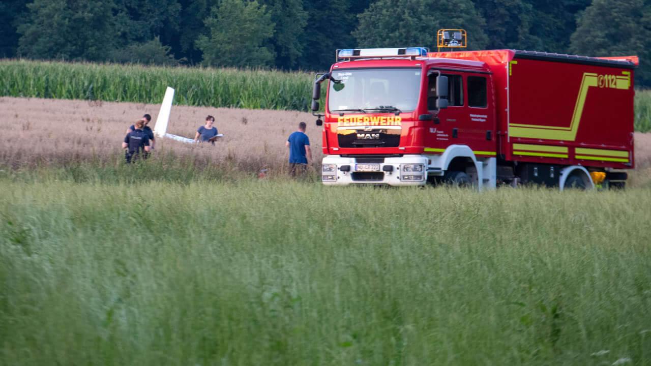 حادث تحطم طائرة في مدينة ألمانية