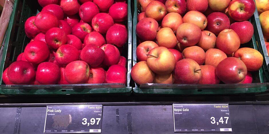 انفجار أسعار التفاح في مدينة ألمانية