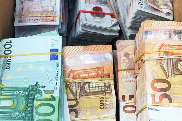 عثر على 130 ألف يورو