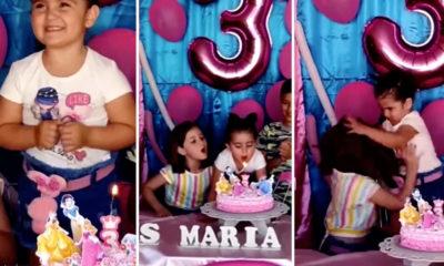 12 مليون مشاهدة لمقطع فيديو يظهر شجار وشد شعر طفلتين في حفلة عيد ميلاد