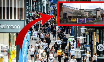 رجل يمشي في وسط مدينة ألمانية ولا يصدق ما يراه
